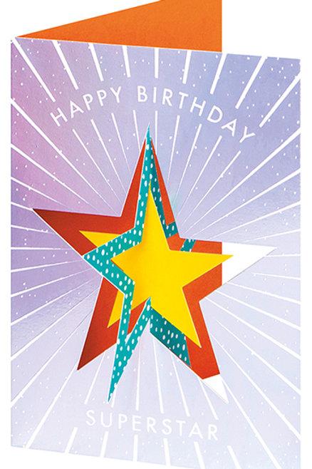 Happy Birthday Superstar Pop-Up
