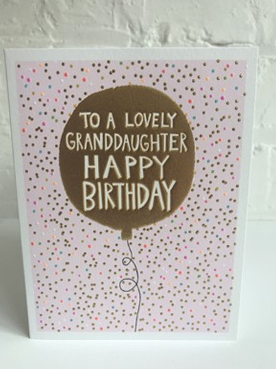 To A Lovely Granddaughter Happy Birthday