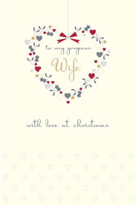 To My Gorgeous Wife With Love At Christmas