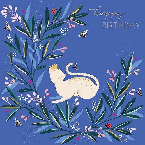 White Cat And Bee Birthday