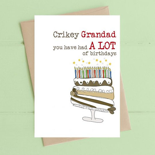 Crikey Grandad You Have Had A Lot Of Birthdays