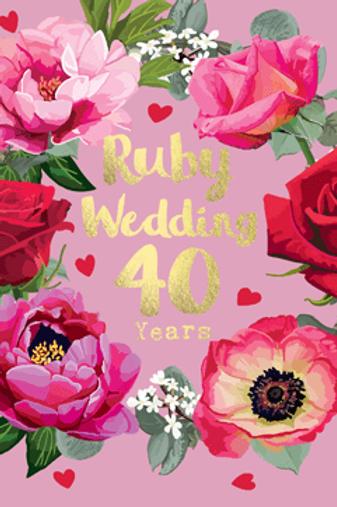 Ruby Wedding 40 Years