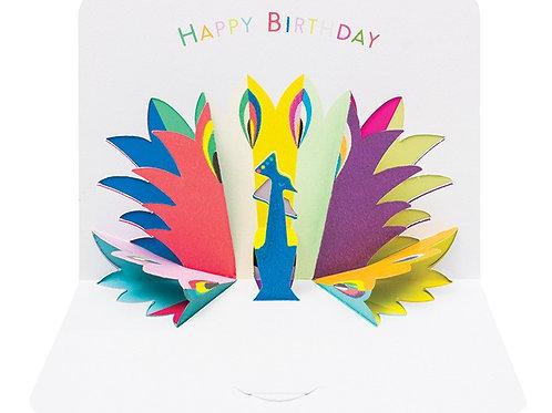 Happy Birthday Peacock Pop-Up