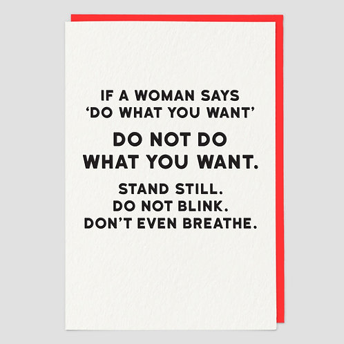 If A Woman Says