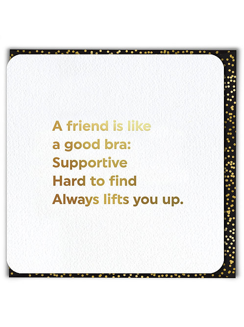A Friend Is Like A Good Bra