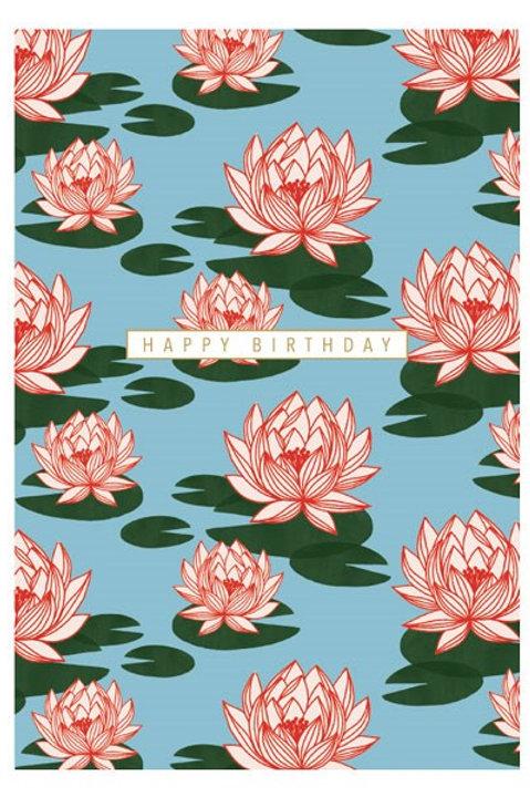 Happy Birthday Lotus Flowers