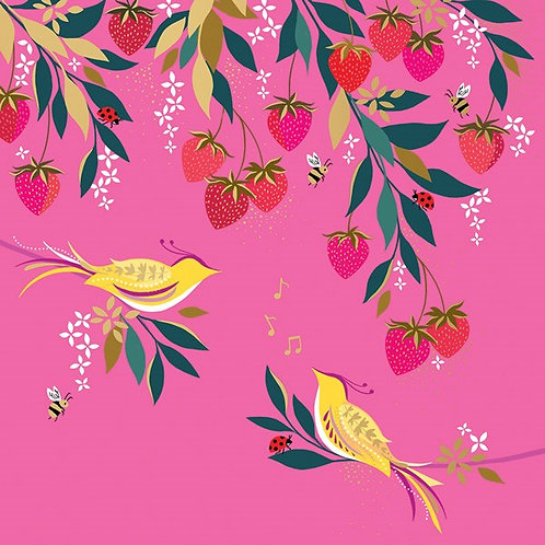 Birds And Strawberries