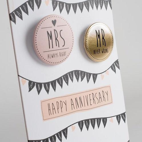 Happy Anniversary Badge Card