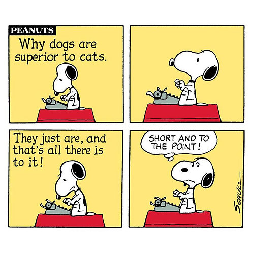 Why Dogs Are Superior to Cats Snoopy