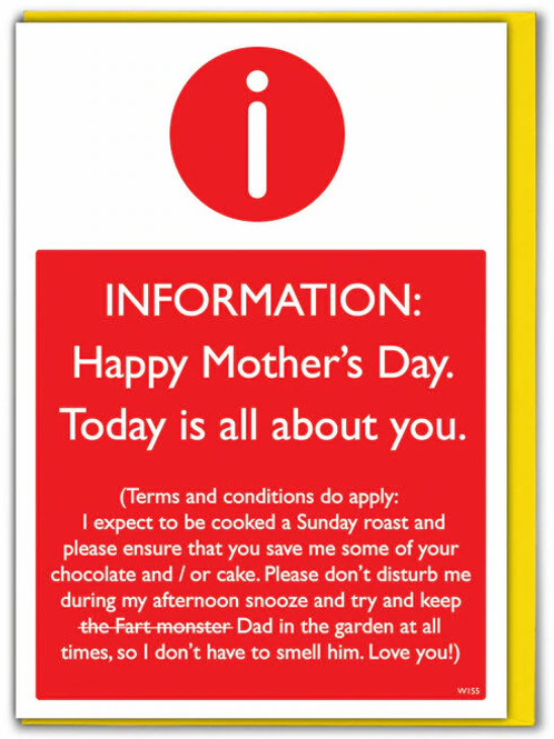 Information Happy Mother's Day Today Is All About You