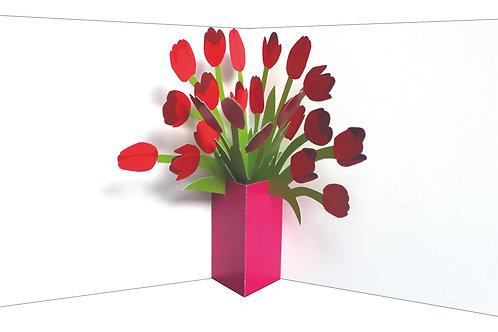 Tulips Flower Vase Pop-Up