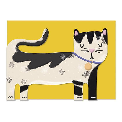 Pawsome Black & White Cat