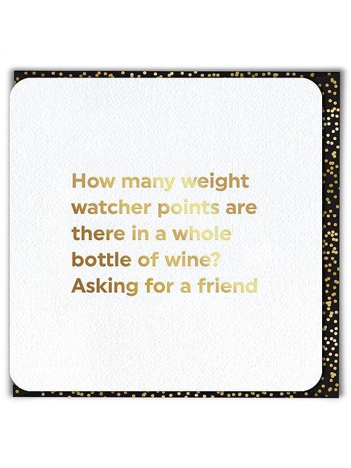Weight Watcher Points