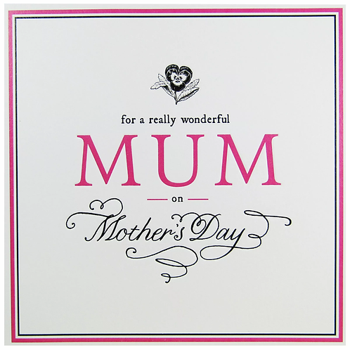 For A Really Wonderful Mum On Mother's Day