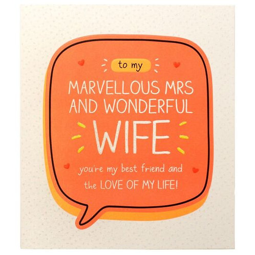 To My Marvellous Mrs And Wonderful Wife