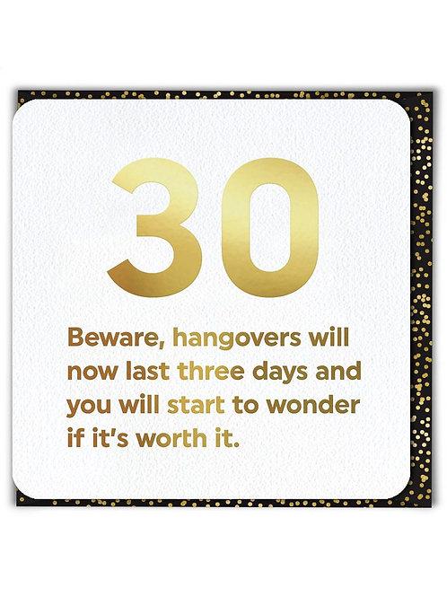 30 Hangovers