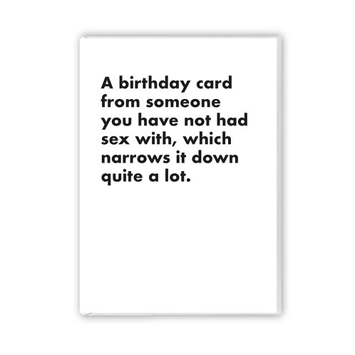 A Birthday Card From Someone