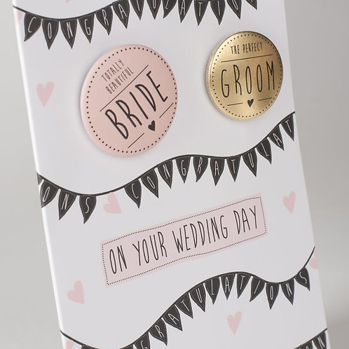 On Your Wedding Day Badge Card
