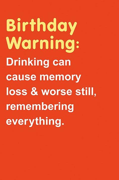 Birthday Warning