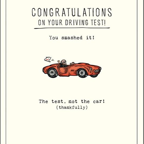 Congratulations On Your Driving Test