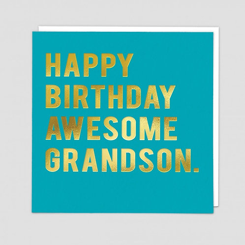 Happy Birthday Awesome Grandson