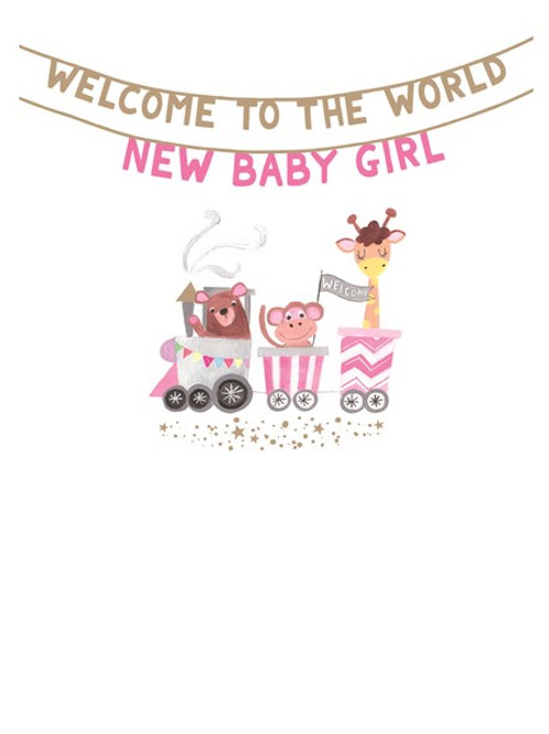 Welcome To The World New Baby Girl
