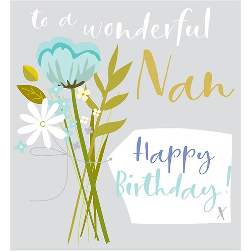 To A Wonderful Nan Happy Birthday