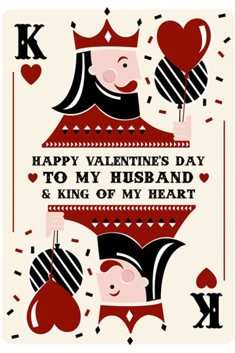 Happy Valentine's Day To My Husband And King Of My Heart