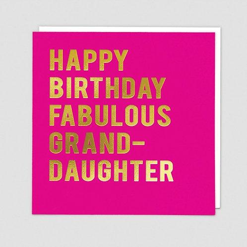 Happy Birthday Fabulous Granddaughter