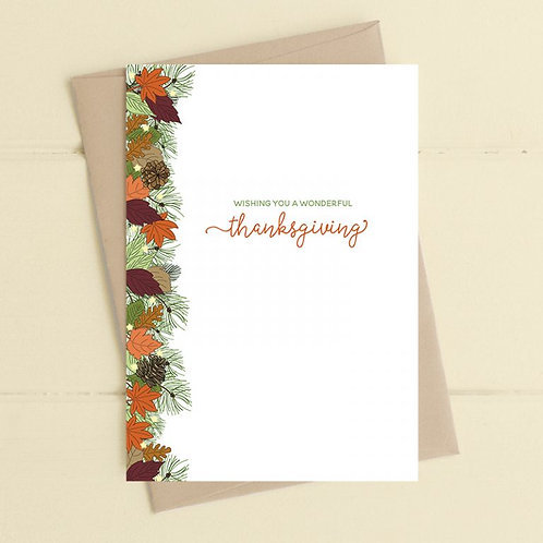 Wishing You A Wonderful Thanksgiving