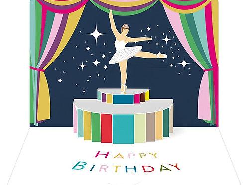 Happy Birthday Ballerina Pop-Up
