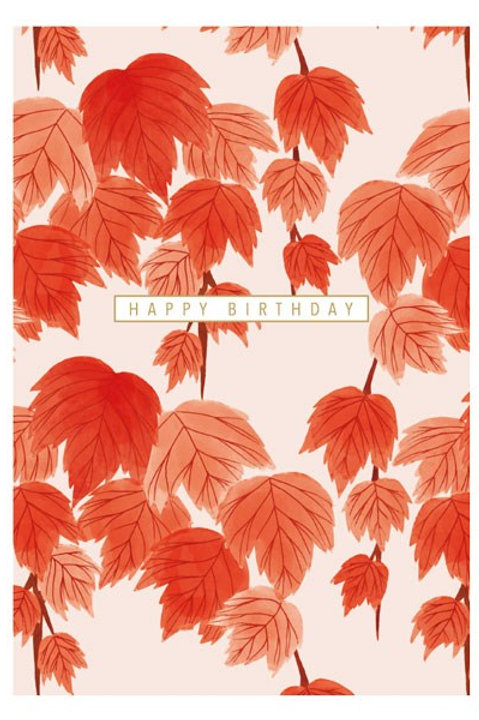 Happy Birthday Red Leaves