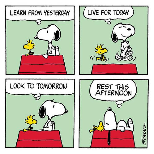 Learn From Yesterday Snoopy