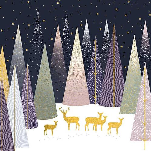 Pastel Deer In Forest