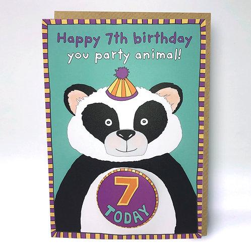 7th Birthday Badge Card