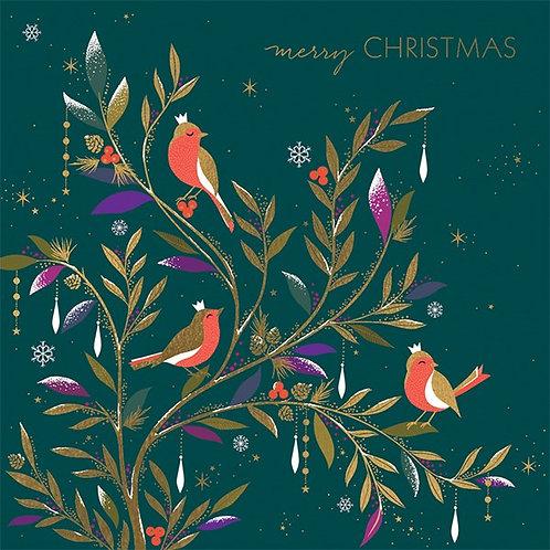 Robins And Jewelled Foliage