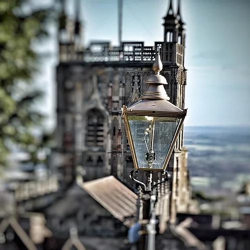 Malvern Priory And Gas Lamp