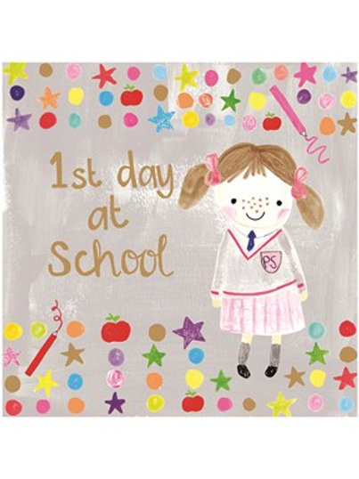 1st Day At School Girl