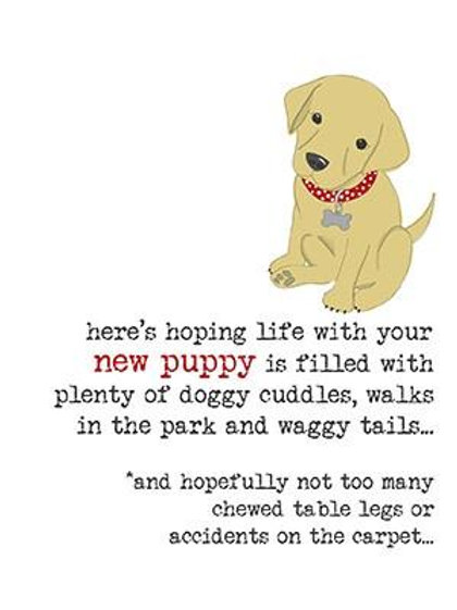 Here's Hoping Life With Your New Puppy
