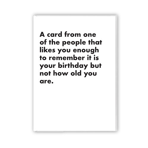 A Card From One Of The People
