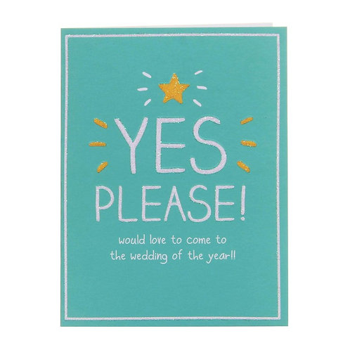 Yes Please Wedding Acceptance
