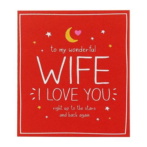 To My Wonderful Wife I Love You
