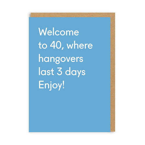 Welcome To 40