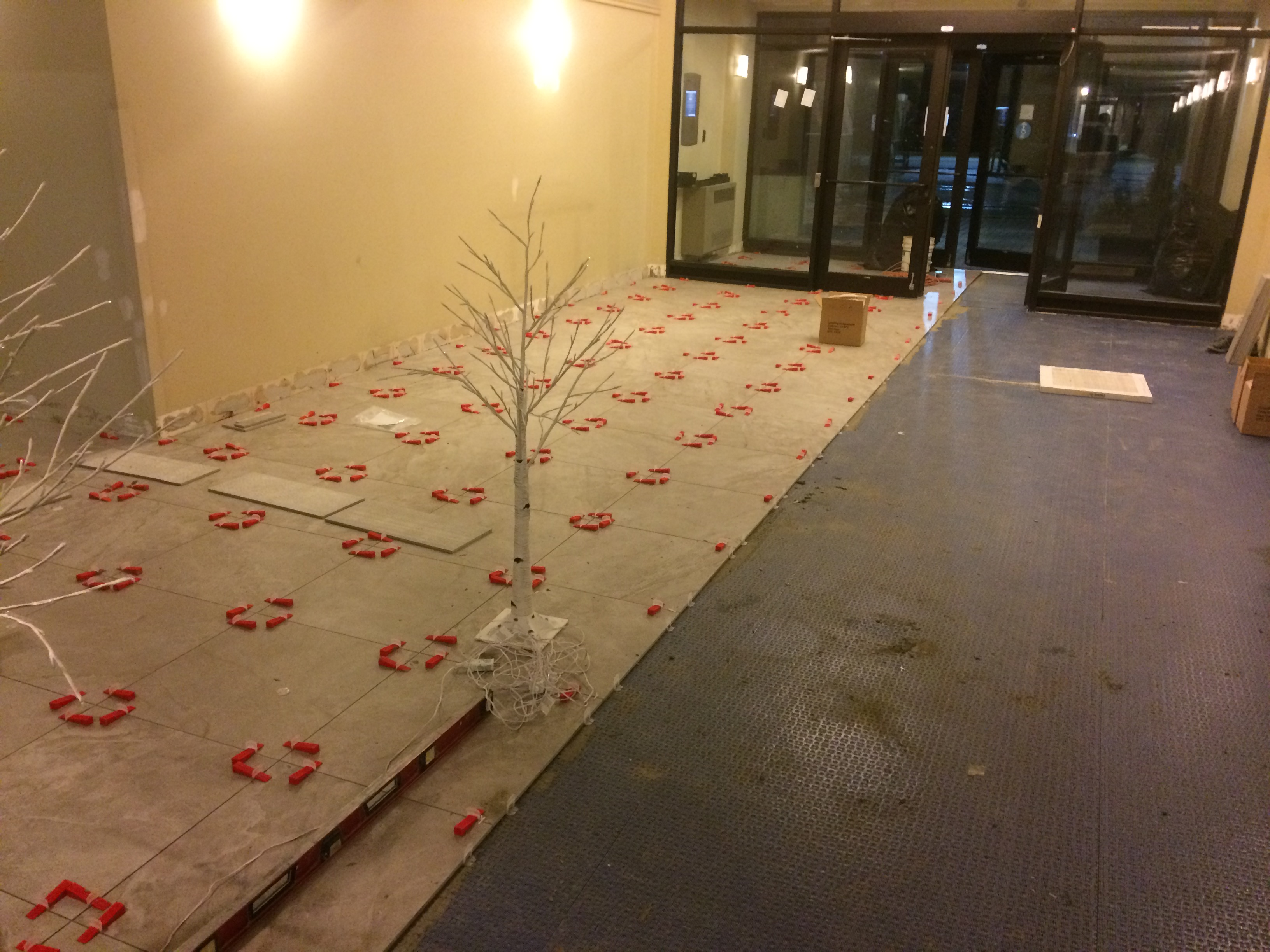 Lobby in Apartment Building (during)