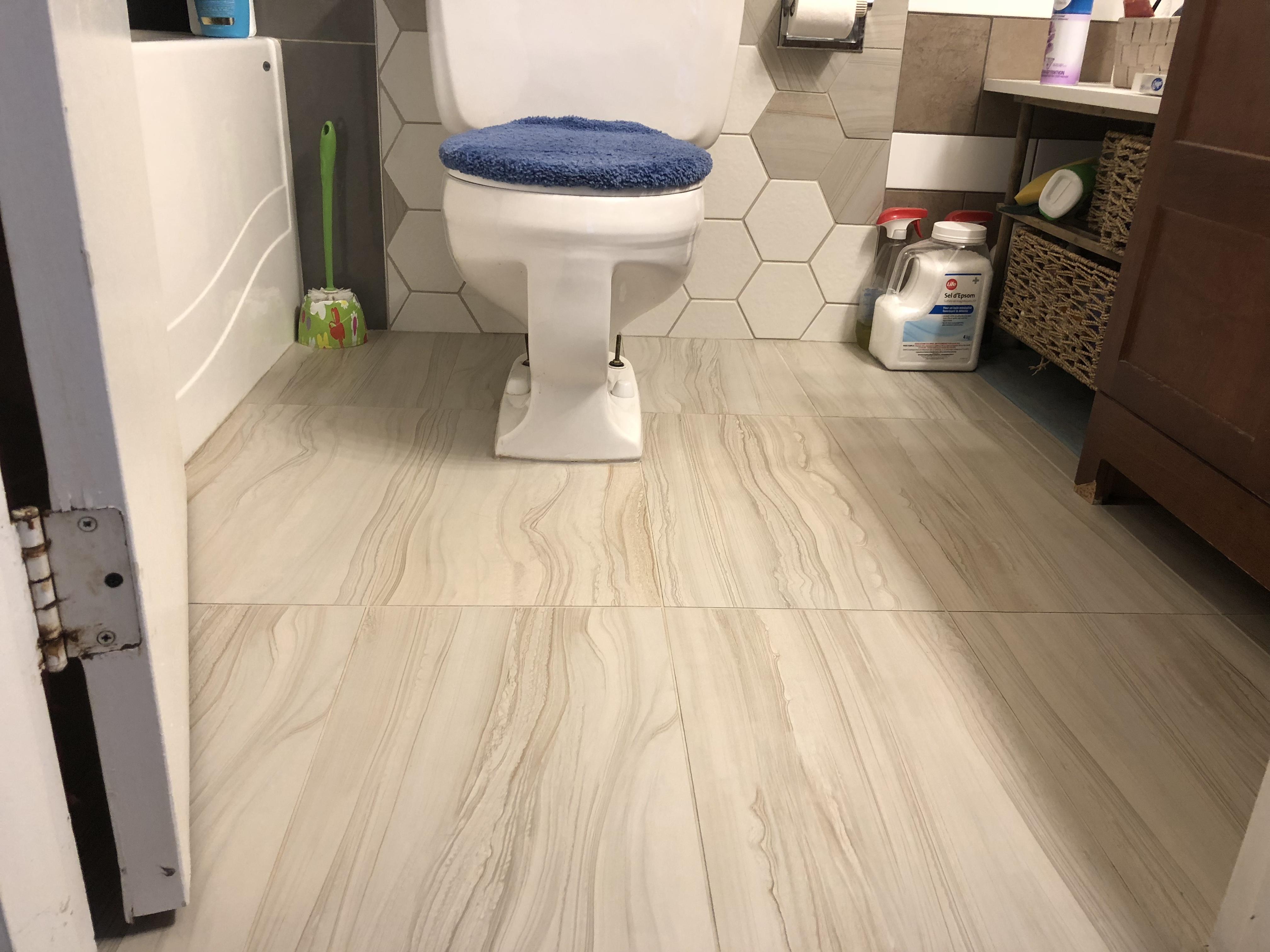 Bathroom floor reno (after)