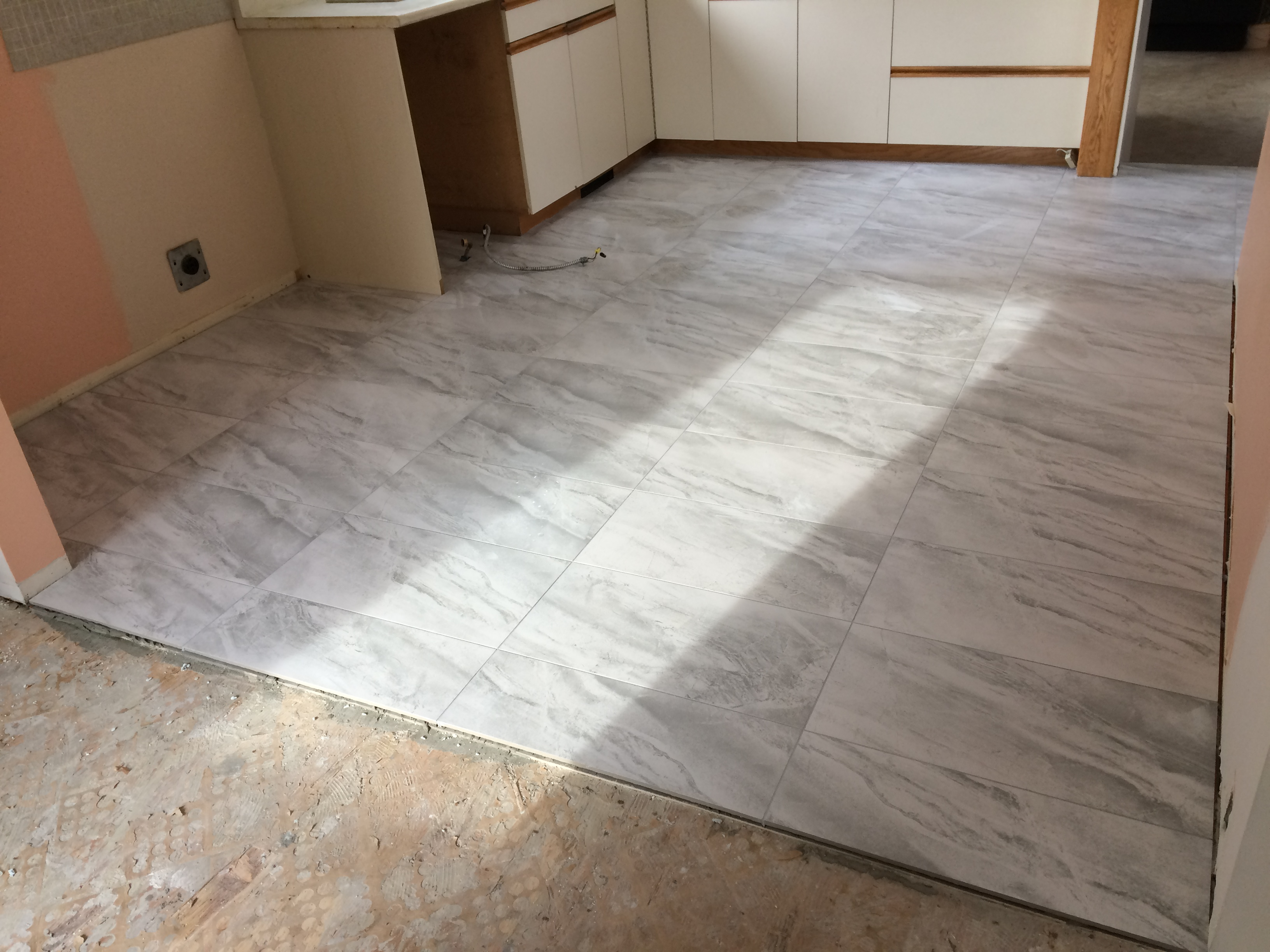 Kitchen floor replacement (after)