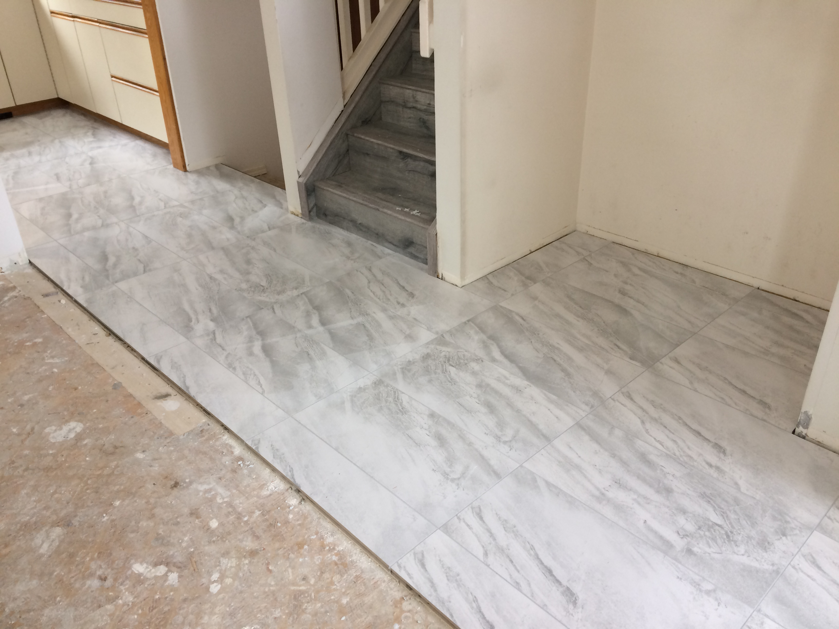 Front entry floor replacement