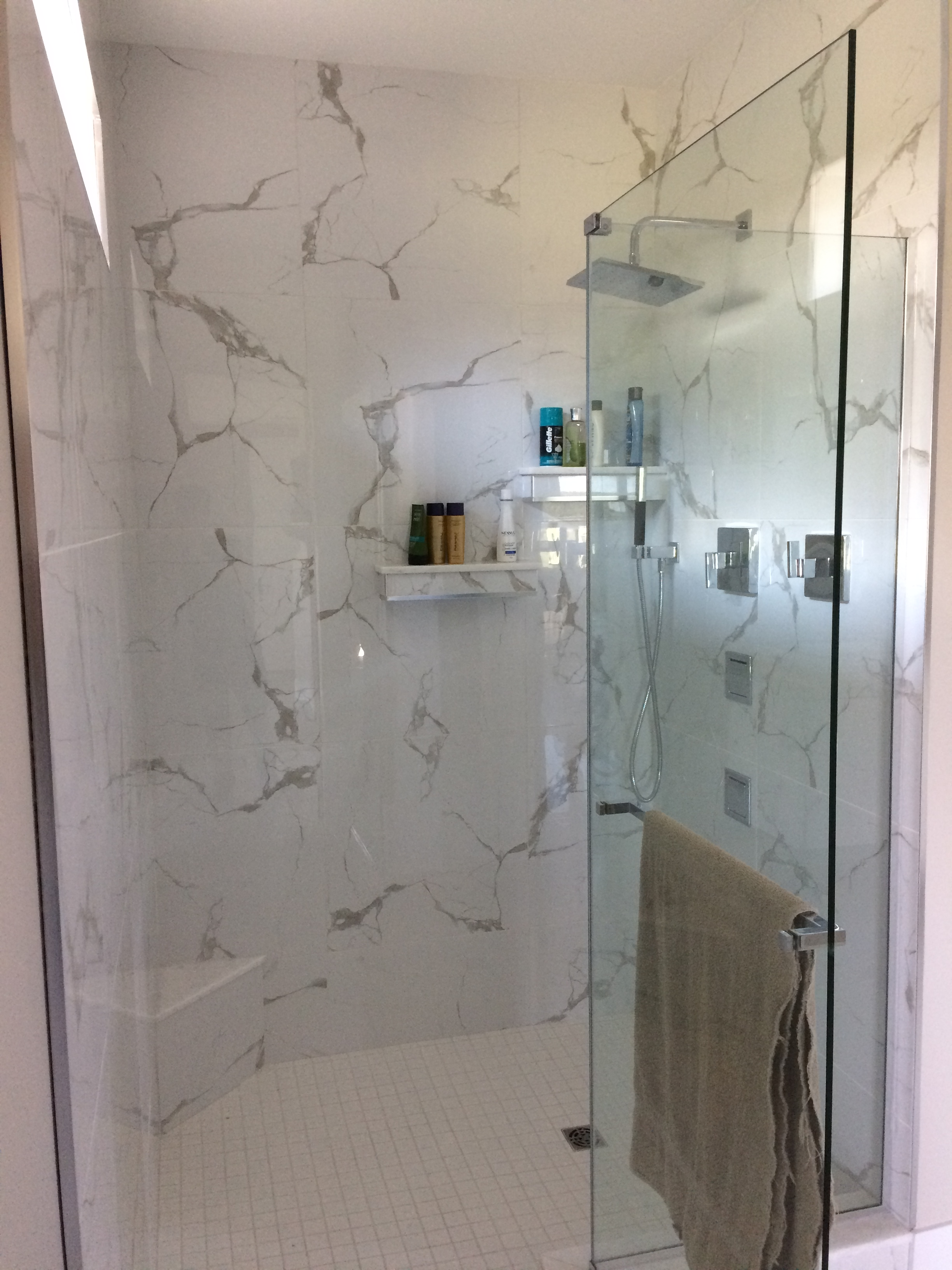 Custom shower L-shape (after)