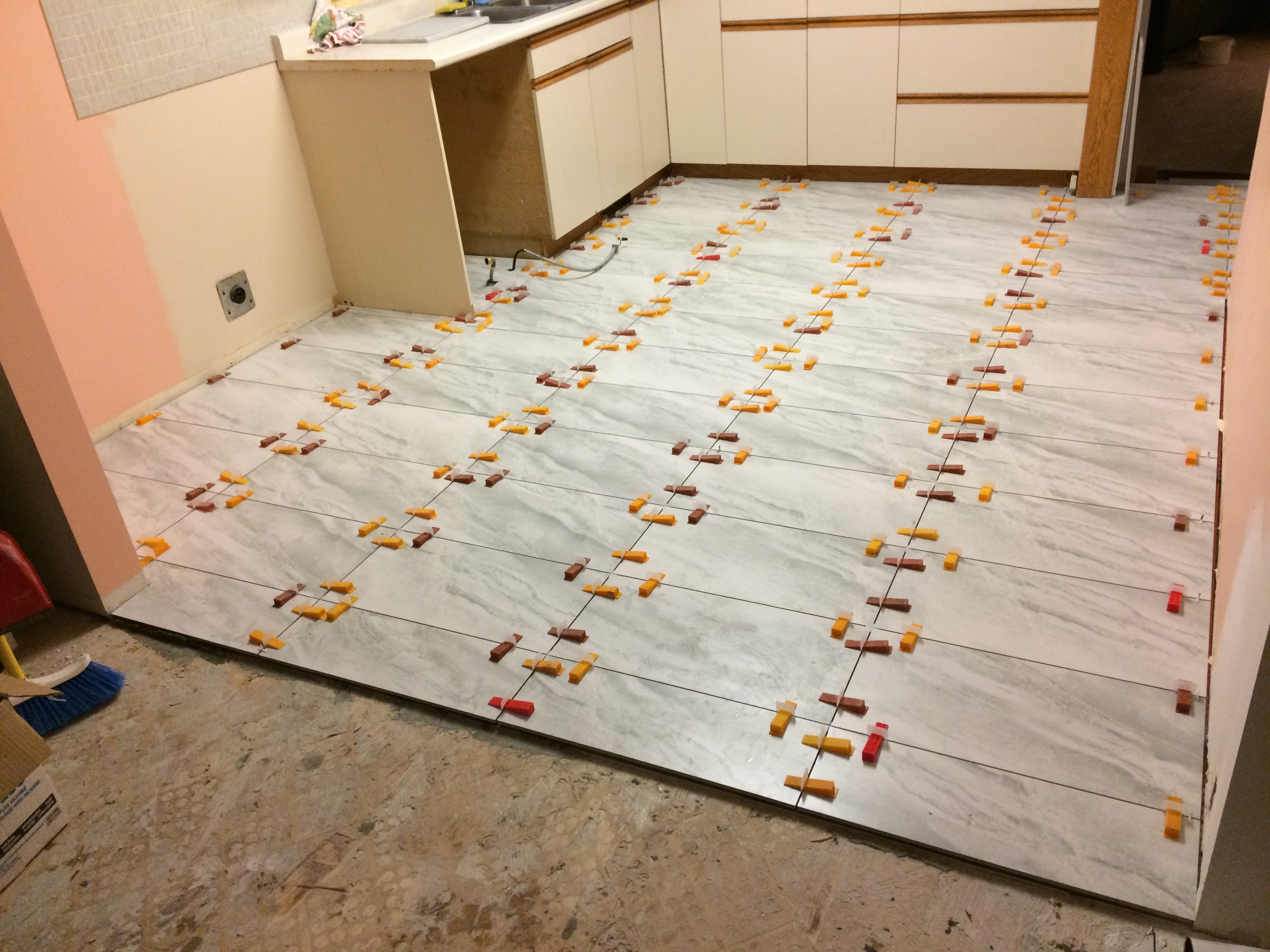 Kitchen floor replacement (during)