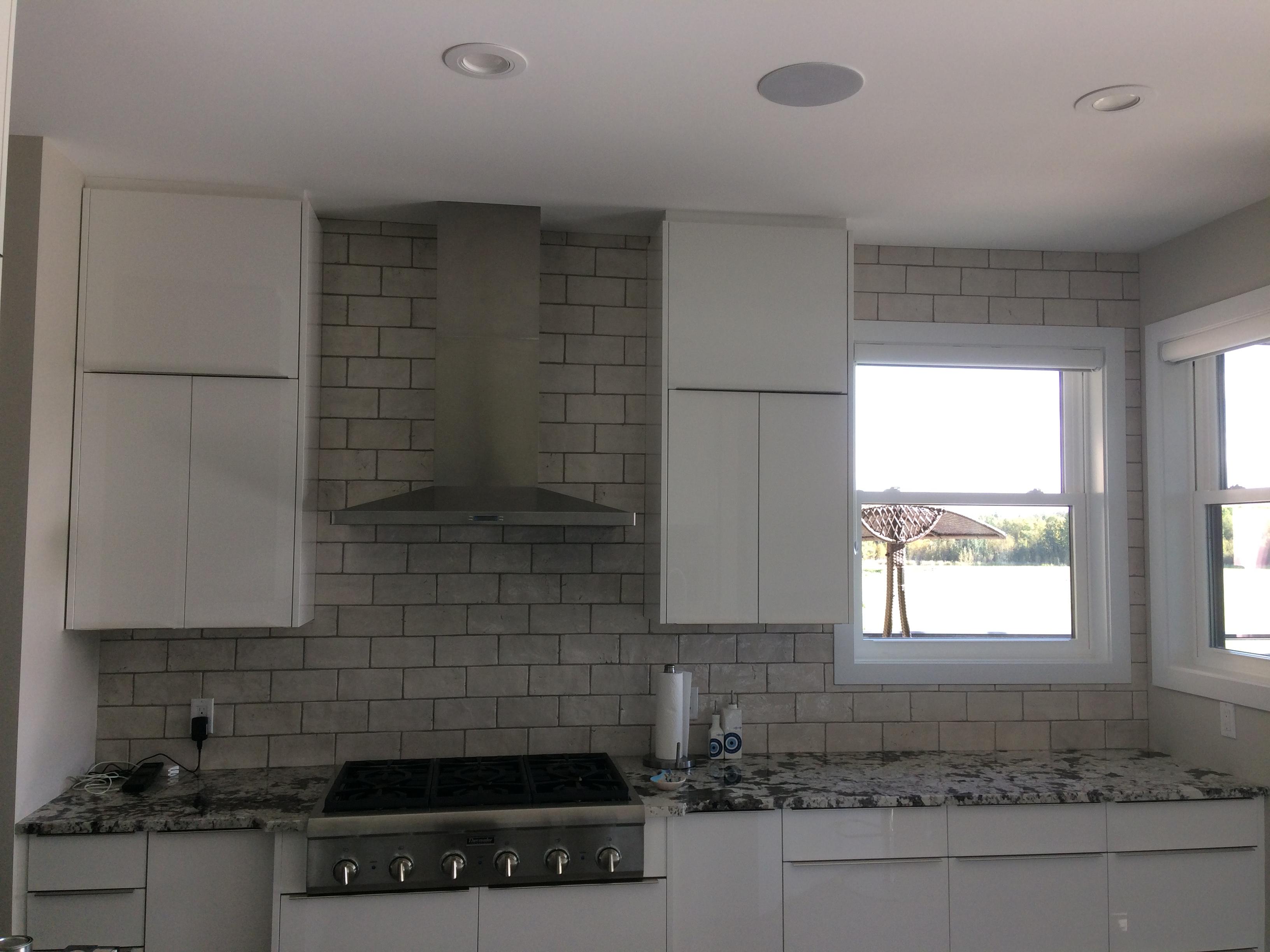 Italian handmade tile in the kitchen